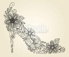 Fashion shoes Royalty Free Stock Vector Art Illustration