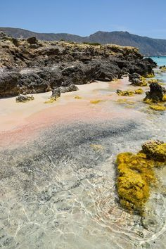 The pink sands of Elafonissi Beach - Crete, Greece