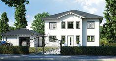 Massivhaus Kern-Haus Stadtvilla Karat Eingangsseite