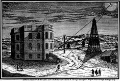 "Paris Observatory, beginning of the 18th century. (Engraving: C. Wolf) Marly Tower is on the right. Giovanni Domenico Cassini had it moved to the grounds of the observatory in order to mount aerial telescopes and long tubed telescopes. Mona Evans, ""Lacaille's Skies - Sciences""  http://www.bellaonline.com/articles/art183614.asp"
