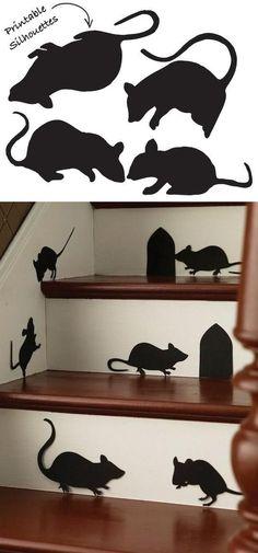 schwarze Mäuse auf den Treppen ähnliche tolle Projekte und Ideen wie im Bild vorgestellt findest du auch in unserem Magazin