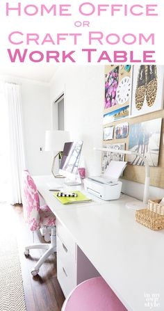 Looking For More Space To Spread Your Work Out On Your Craft Room Work  Table Or Home Office? Check Out This Easy DIY Craft Room For Lots Of Ideas.