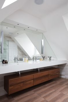 Bathroom Mirrors And Clever Storage Faux Marble Tiles Brassware By Hansgrohe