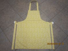 Sunshine Floral {Yellow} Cotton (white backing-no pockets) - Adult Sized Apron by ShawnasSpecialties on Etsy