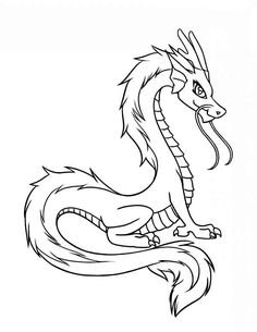 Young Dragons From Chinese Coloring Pages