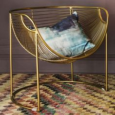 Gorgeous gold mulberry leaf lounger chair, the perfect addition for a metallic room scheme