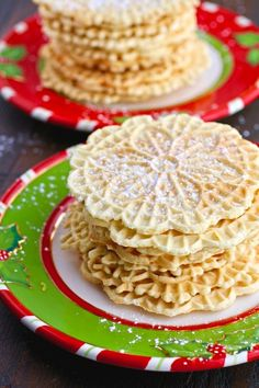 Are you baking up a storm this season? In my Italian family, it isn't Christmas without pizzelle cookies. This year I made Orange-Amaretto Pizzelle Cookies, and they are so flavorful and festive.