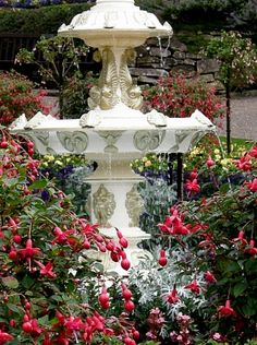 Garden fountain #pattern