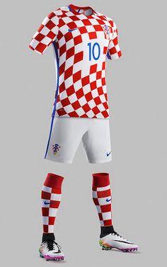 d4439a1aa5 Comprar camisetas de Croacia baratas Eurocopa 2016 Equipamento De Futebol