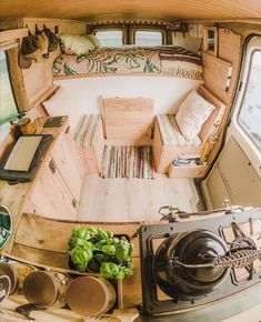 Bus Life, Camper Life, Camper Van, Tiny House, Bus House, Saint Nazaire, Think Small, Caravan Home, Campervan Interior