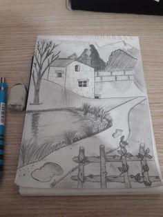 Disney Art Drawings Sketches Pencil Coloring 17 New Ideas Art Drawings Sketches Simple, Dark Art Drawings, Sketchbook Drawings, Pencil Art Drawings, Easy Drawings, Cool Drawings For Kids, Drawing Ideas, Sketching, Landscape Pencil Drawings