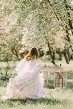 Created by Romanian designer, Otilia Brăiloiu, our bride wears a bohemian flounced tulle wedding dress. Ideal for romantic brides, in love with nature and flowers. It was created to suit a very feminine personality. Tulle Wedding, Wedding Dresses, Fairytale, Brides, Personality, Bloom, Feminine, Bohemian, Suit