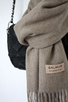 homevialaura | style | bags and accessories | Balmuir Highland scarf in Sand | cashmere scarf www.balmuir.com/shop