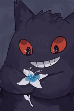 Made a gengar phone background for anyone who wants to use it c: - credit to rinnai-rai.tumblr.com