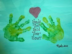 Ramblings of a Crazy Woman: Hand Print Crafts