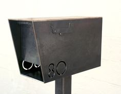 Modern/contemporary steel mailbox...