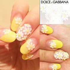 3d Nail Art, Nails Inspiration, Nail Art Designs, Gel Nails, Nailart, Daisy, Hair Makeup, Make Up, Polish