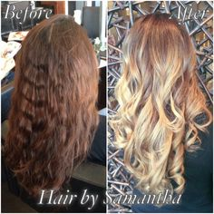 Box color to professional blonde  balayage! #winnipeghair #winnipegstylist #aveda #hair2dye4 Instagram @hair_by_Samantha Twitter @hairz_by_Sam Email samantha@hair2dye4.ca
