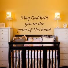 Vinyl Wall Decal Sticker Art May God Hold You by wordybirdstudios