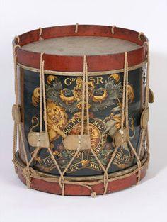 British Drum 1st Foot Guards . 18th century