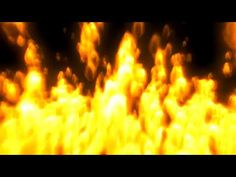 121 Dynamic gold raging fire photography&video background video material for video produce