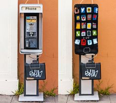 Payphone-Turned-iPhone   32 Incredibly Cool Yarn-Bombings To Brighten YourDay