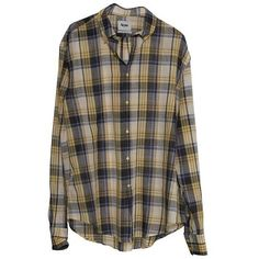 YouHeShe.com - Acne - Ternet skjorte ❤ liked on Polyvore featuring tops, blouses, shirts, plaid, plaid top, tartan plaid shirt, plaid blouse, brown blouse and shirt top