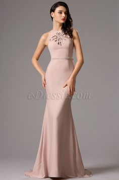 Sleeveless Rosy Brown Formal Gown with Stylish Cutouts (00160946) e4a292be4