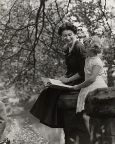 Her Majesty, the Queen with her daughter Princess Anne; photo by Lord Snowdon,  10 October 1957.