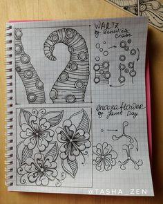 С первым днем весны! И цветочная Страничка моего #tanglebook_tashavist . Материалы: тетрадь, черная гелевая ручка, простой мягкий карандаш