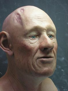 A facial reconstruction built from facial bones from the 11th Century.