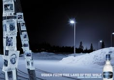 Eristoff Vodka print campaign. Vodka from the land of the wolf.