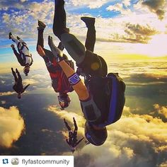 "FNERI on Instagram: ""#Repost @flyfastcommunity with @repostapp. ・・・ Owning the sky with @freefalldelirium ・・・ Florida sunsets never disappoint. Carving the sky with TRIBU FreeFly and Fly4Life."""
