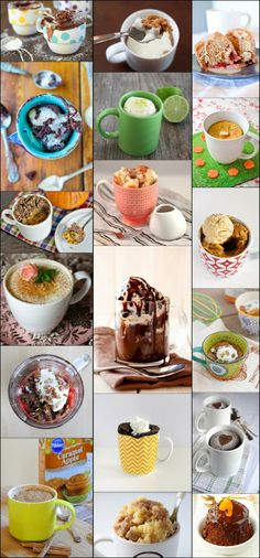 Diy Projects: 30 Quick Microwave Desserts You Can Cook in A Mug Microwave Cake, Microwave Recipes, Mug Recipes, Cooking Recipes, Dorm Food, Brownie In A Mug, Dessert In A Jar, Individual Desserts, Cookie Desserts