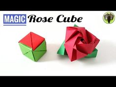 Magic Rose Cube - (Re-Edited - Normal Speed) - DIY Origami Tutorial by Paper Folds. The Video Tutorials on craft, art and origami hosted by Paper Folds is useful for special occasions, events, Holidays and Festivals. The models can be designed and crafted Origami Ball, Diy Origami, Origami Cube, Paper Crafts Origami, Useful Origami, Origami Design, Origami Ideas, Origami Folding, Origami Infinity Cube