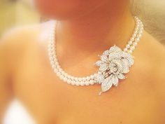 Wedding necklace bridal necklace wedding jewerly by treasures570, $105.00