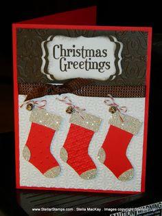 Handmade Christmas stockings card