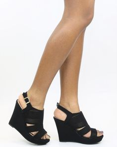 6d8d9fabc175 Jessann Perforated Wedge Sandal
