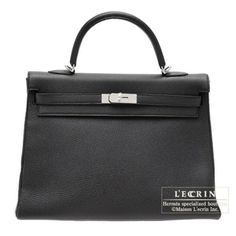 Hermes Kelly Bag 35 Retourne Black Togo Leather Silver Hardware from Discountpluss for $19,500.00 on Square Market