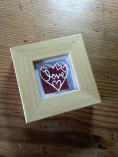 'Love' - Original Miniature Papercut