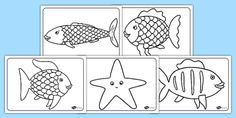A set of free colouring sheets to accompany the Rainbow Fish story, help children to practice colouring skills using this rainbow fish template. Easy Coloring Pages, Free Coloring Sheets, Coloring Pages For Girls, Disney Coloring Pages, Animal Coloring Pages, Free Printable Coloring Pages, Rainbow Fish Template, Rainbow Fish Story, Rainbow Fish Coloring Page