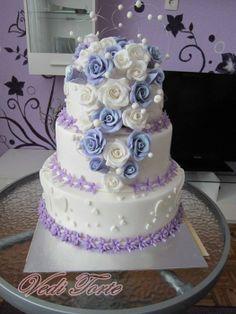 Just a wedding cake - by VediTorte @ CakesDecor.com - cake decorating website