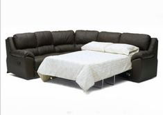Leather sectional sleeper sofa endearing sectional sleeper sofas for Sectional Sofa With Chaise, Sectional Sleeper Sofa, Sofa Couch, Leather Sectional, Couches, Sofa Design, Pull Out Couch, Sofas For Small Spaces, Elegant Sofa