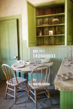 """""""A rickety table and chairs and other furniture in an abandoned. Outdoor Tables, Outdoor Decor, Table And Chairs, Abandoned, Stool, Outdoor Furniture, Creative, Beauty, Home Decor"""