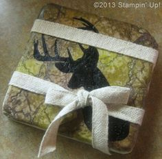 "Stampin' Up! Cards - Coaster, Remembering Christmas stamp set, 7/16"" Trim"