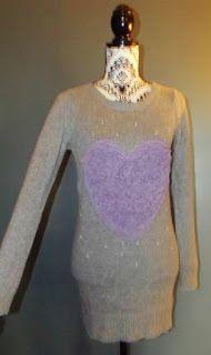 YUMI ON LINE: NEW LOOK ROBE DRESS LAINE ANGORA  PERLES COEUR REL...