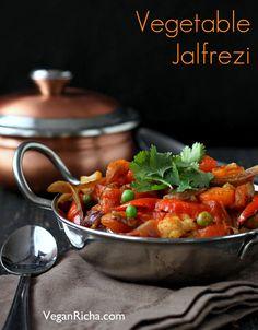 Vegetable Jalfrezi – Smoky Tangy Veggie Stir fry. Vegan Glutenfree recipe