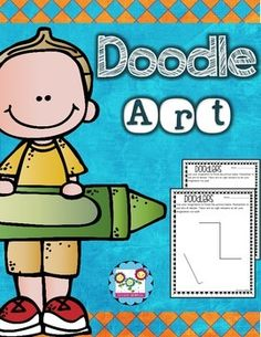 Doodle art, art lessons, art projects, doodlersDoodlers:This fun pack is a must have for your art lessons! All you have to do is print and go! Each page has 1-2 black lines/shapes on it. The students look at those lines and decide what picture to make using the lines that are already on the page.