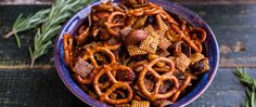 Pairing chipotle chili powder with rosemary and honey gives this Chex™ Party Mix a crave-worthy, sweet-savory flavor profile.