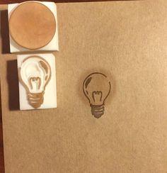 #消しゴムはんこ#はんこ#EraserStamp#stamp#craft#イラスト#illustration#ハンドメイド#handmade#手作り#雑貨#電球#LightBulb